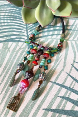 Collier Chinoiserie Jade...