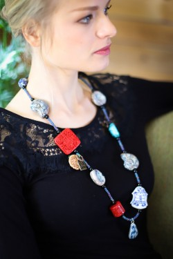 Collier Long Chinoiserie...