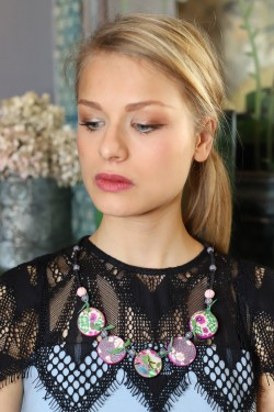 Collier Chinoiserie Terre...