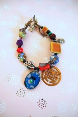 Bracelet Chinoiserie Rouge