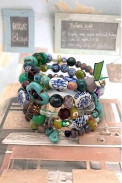 bracelet chinoiserie ressort N°2