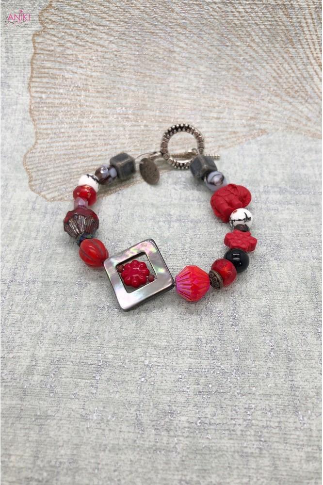bracelet agata nacre