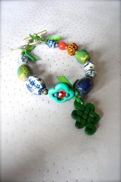 Bracelet Chinoiserie Jade...
