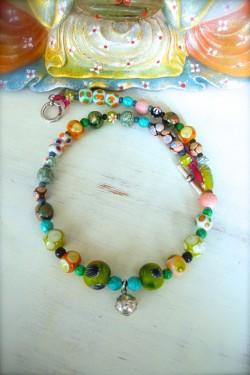 Bracelet Faustine Noir et...