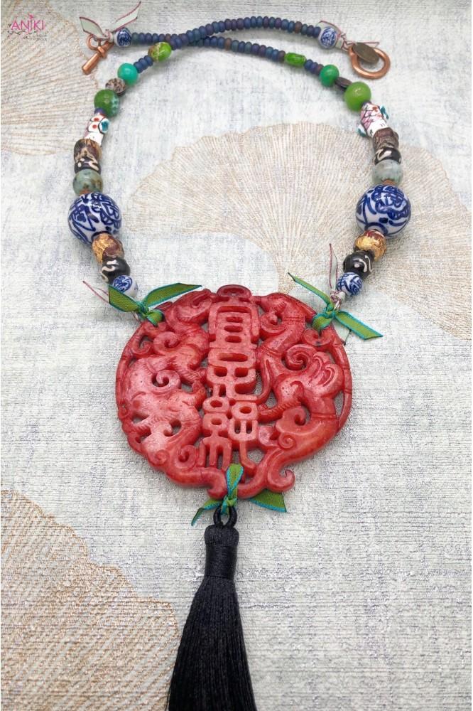 collier jade rouge 1