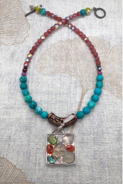 collier agata mosaique