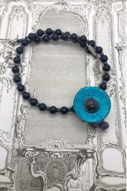 collier court pavot bleu